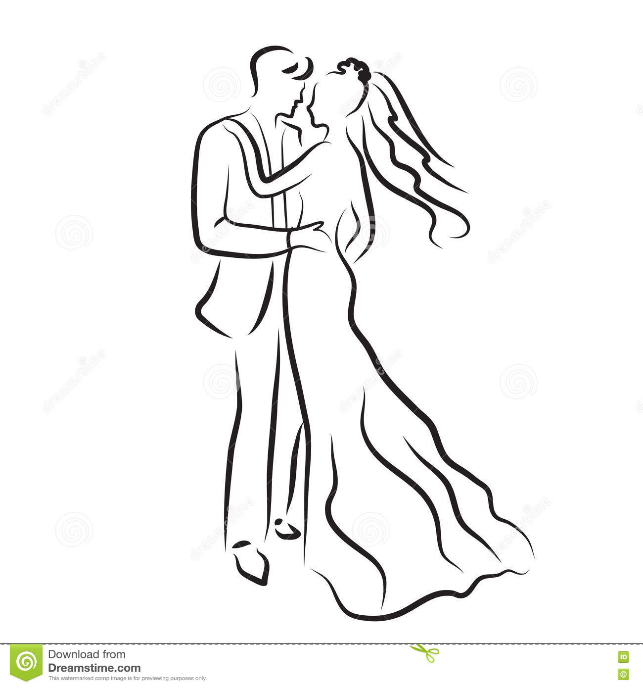 Line Drawing Wedding Couple : The gallery for gt a line wedding dress sketch