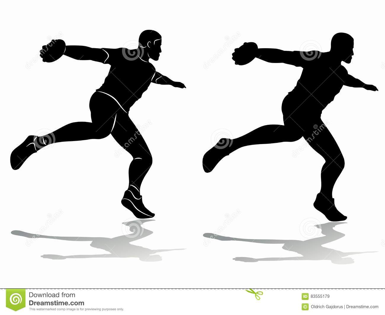 Discus Throw Silhouette | Free vector silhouettes |Discus Thrower Silhouette