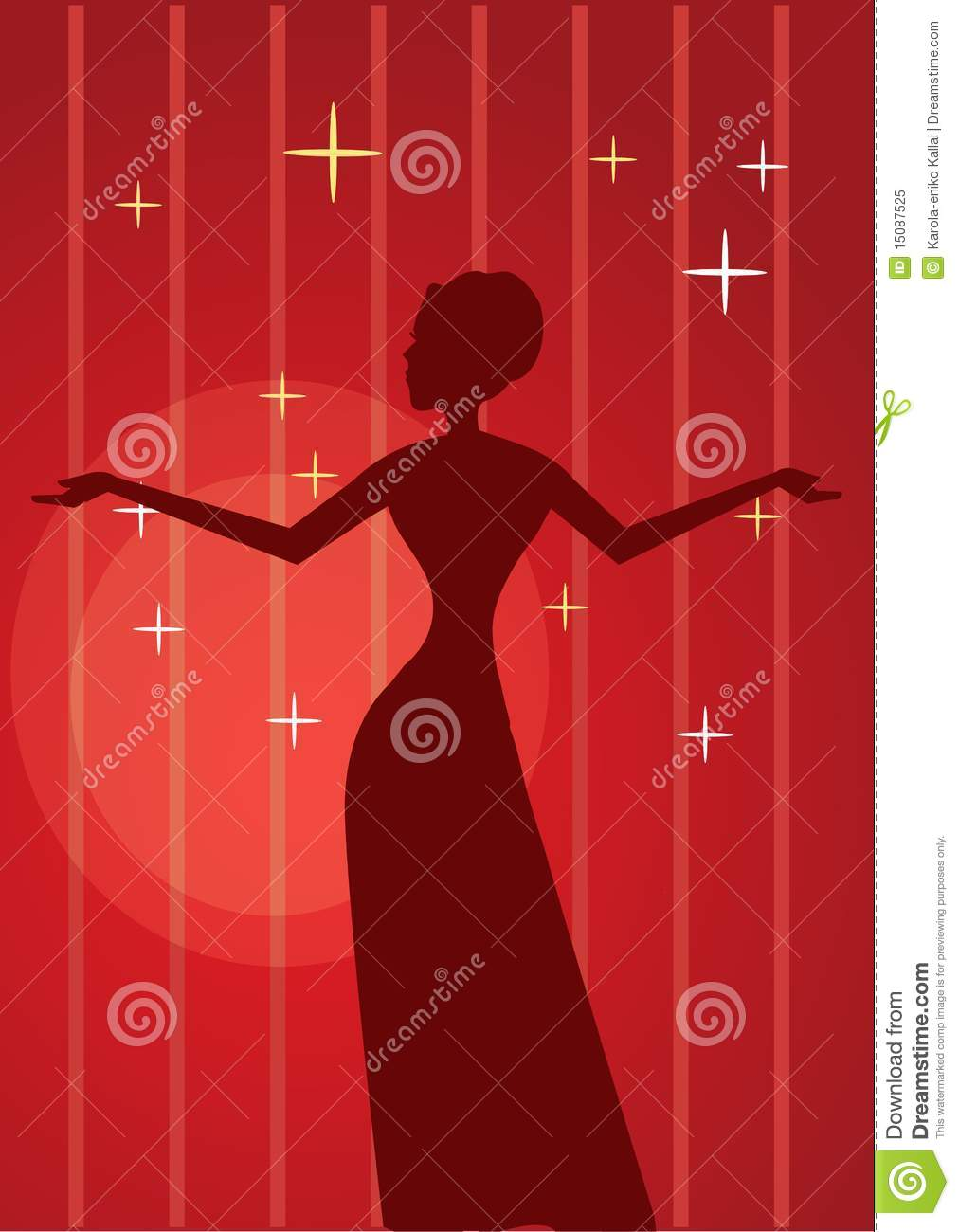 silhouette of a diva stock vector illustration of