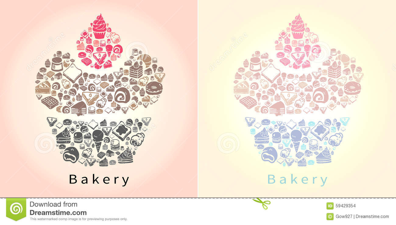 People sitting in waffle chair - Silhouette Doodle Drawing Of Dessert Sweet And Candy Such As Cak Stock Images