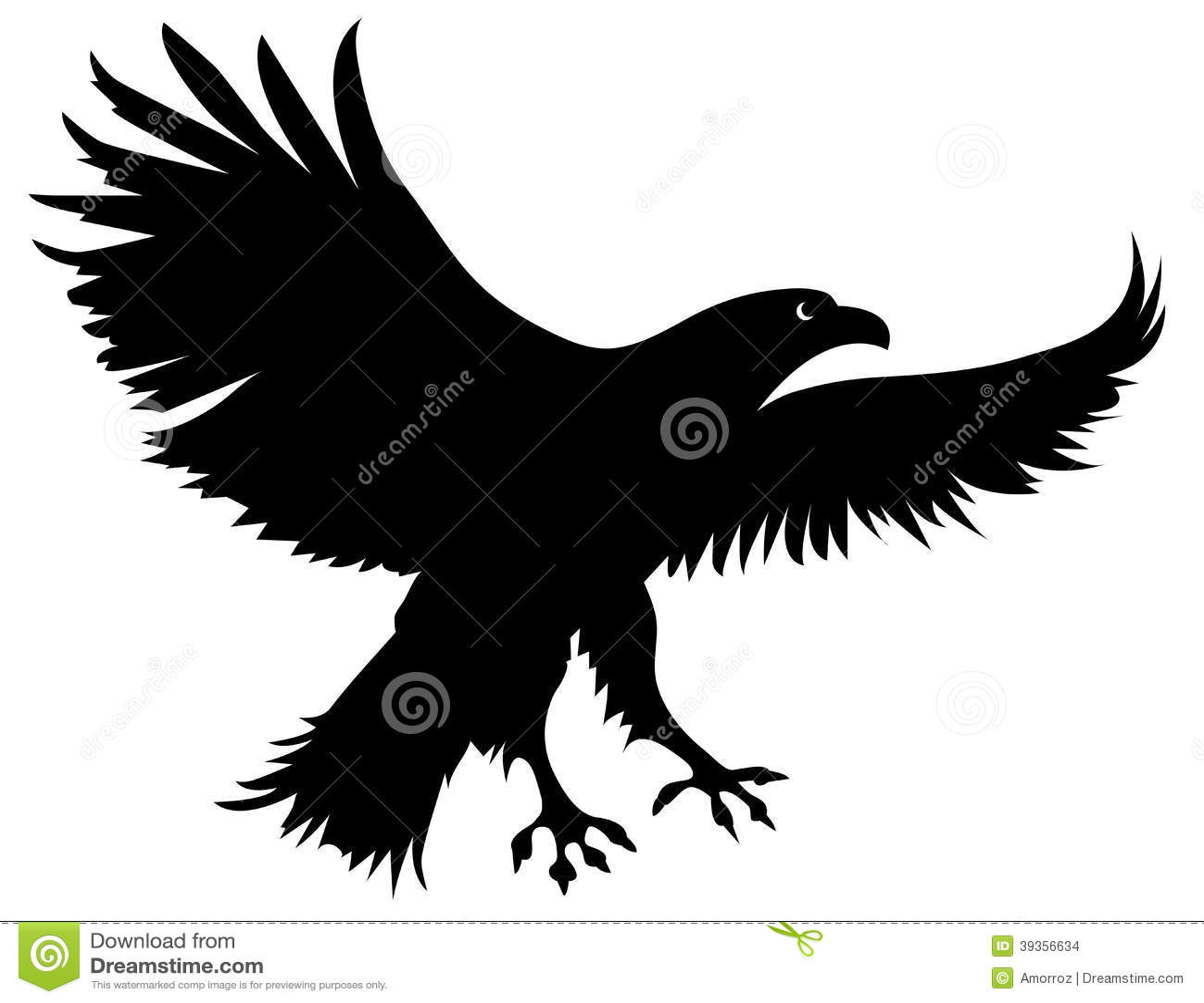 silhouette-eagle-vector-     Eagle Silhouette Vector