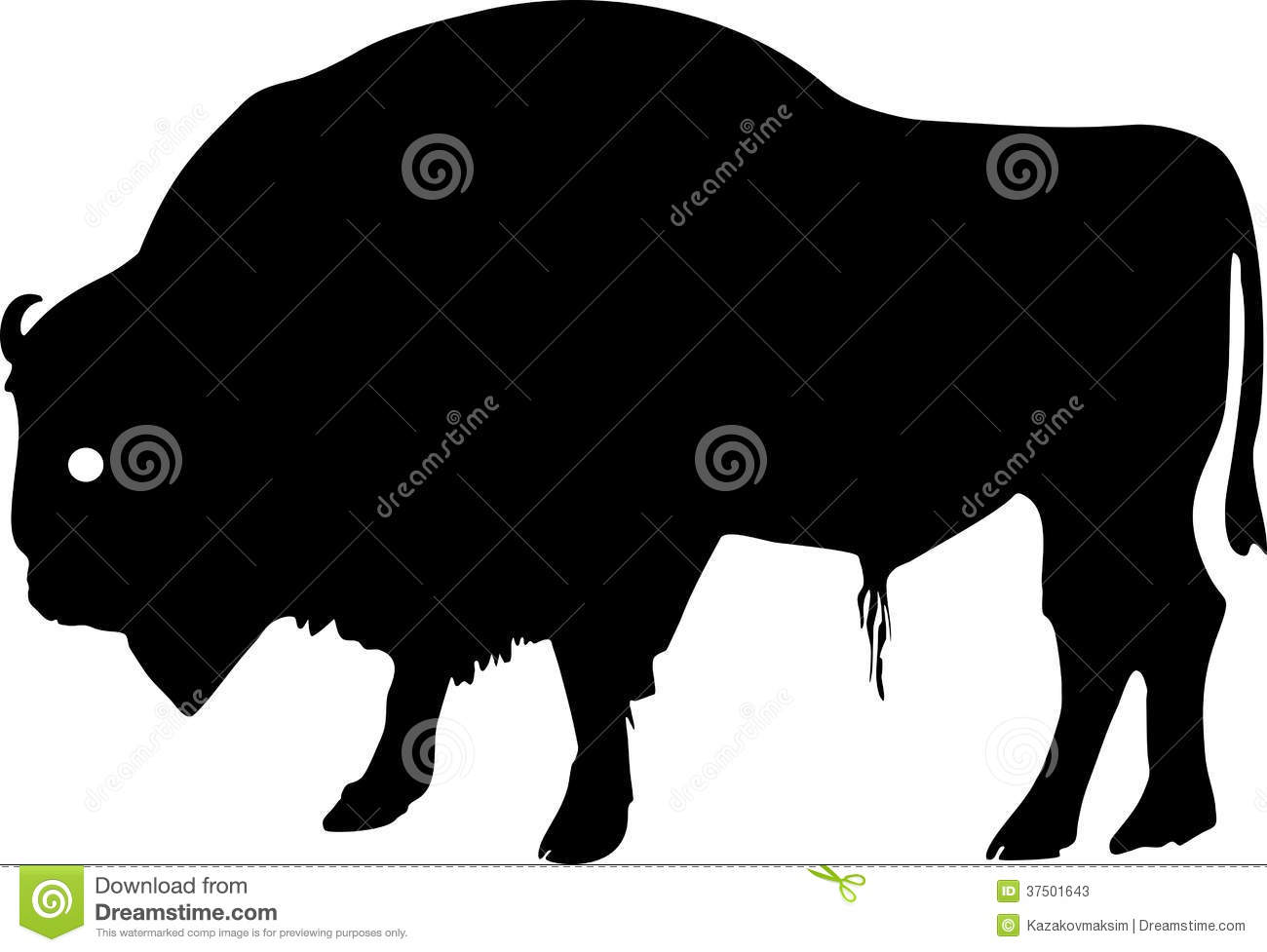 Marsh Grass Silhouette Silhouette of european bison (european wood ...