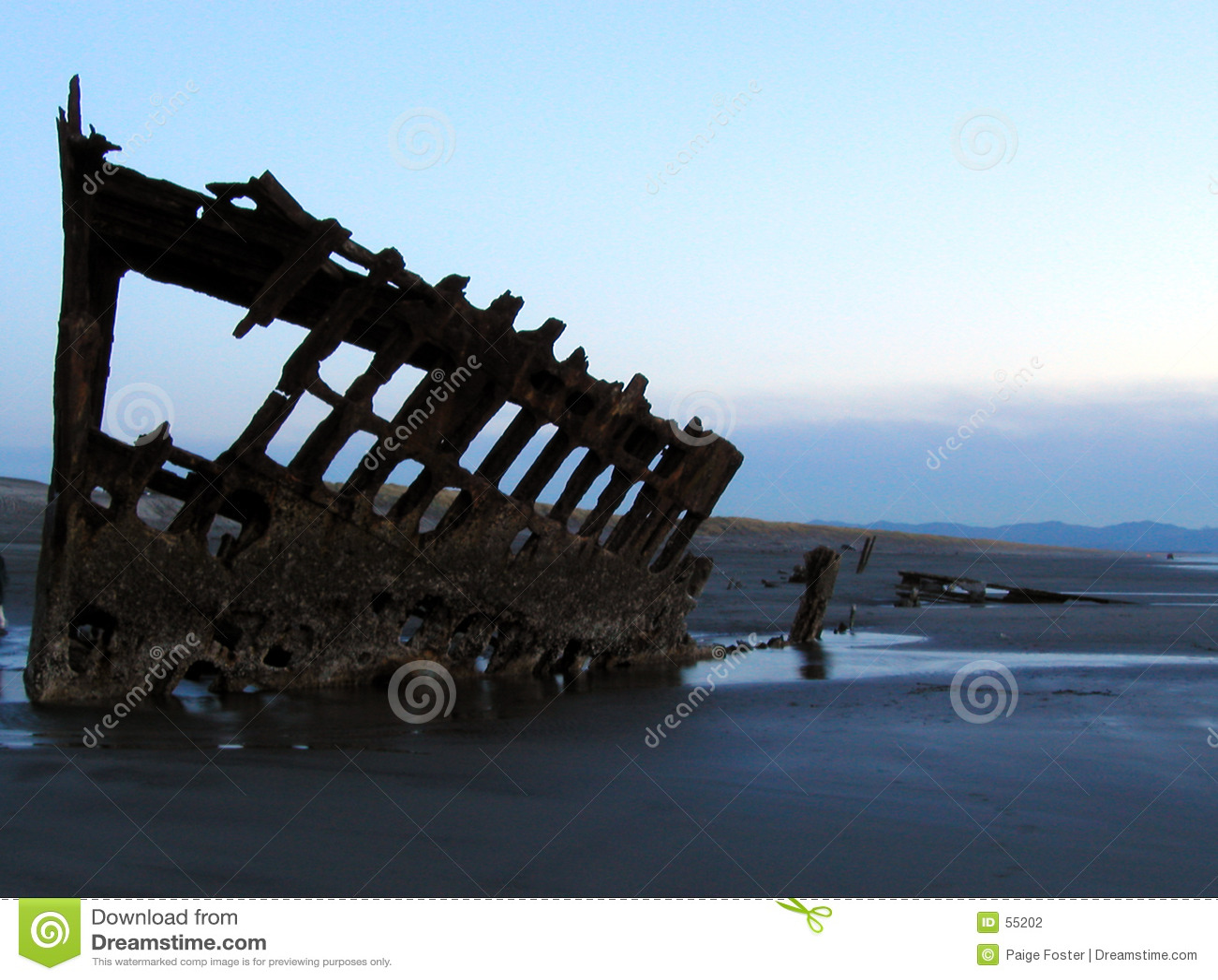 Silhouette för skeppsbrott 4