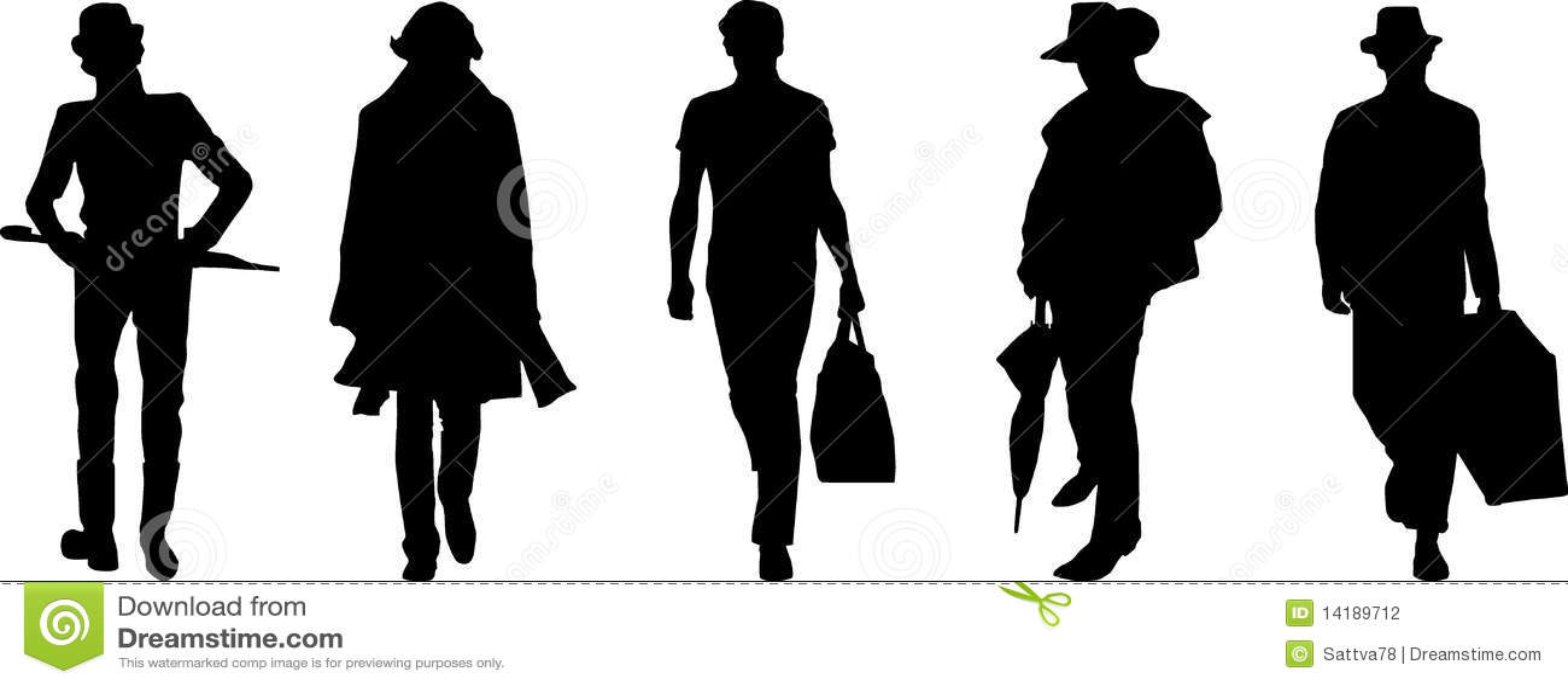Silhouette Fashion Men Stock Photography