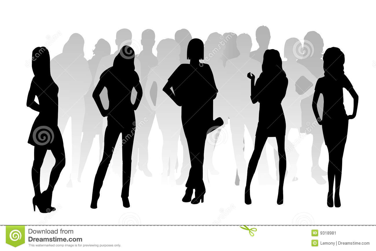 Silhouette fashion woman stock vector. Image of exaltation ...
