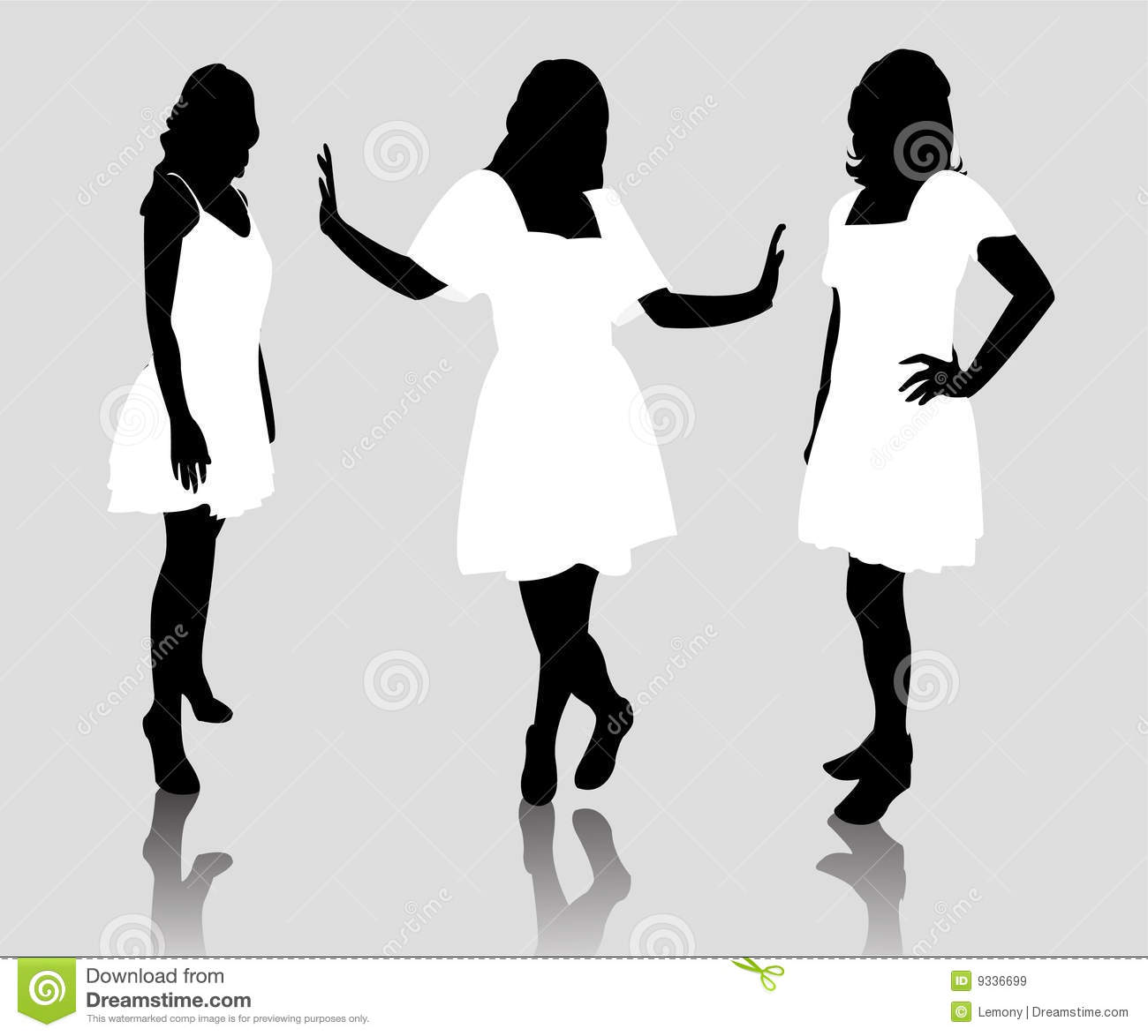 Silhouette Fashion Woman Royalty Free Stock Images - Image ...