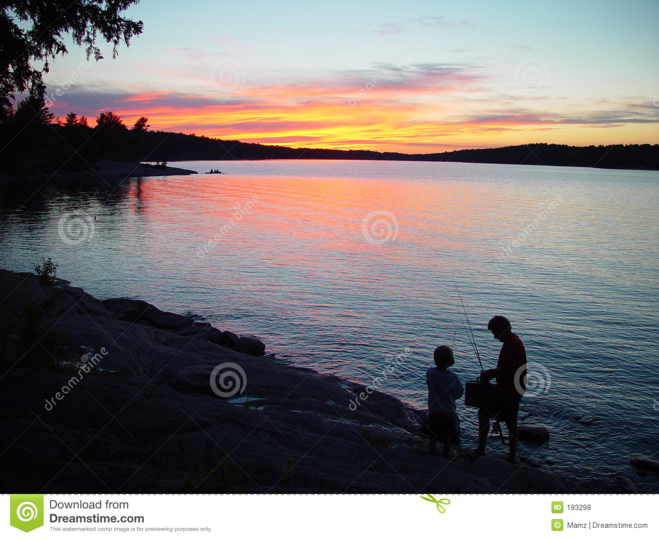 Silhouette of father and son fishing royalty free stock for Fishing times free