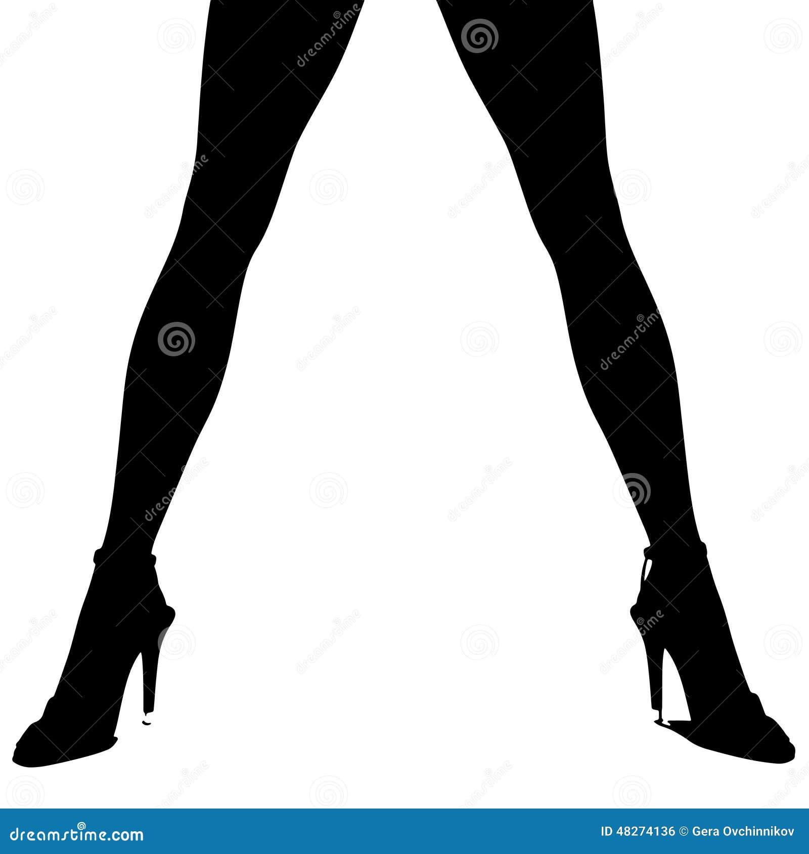 Silhouette of female legs