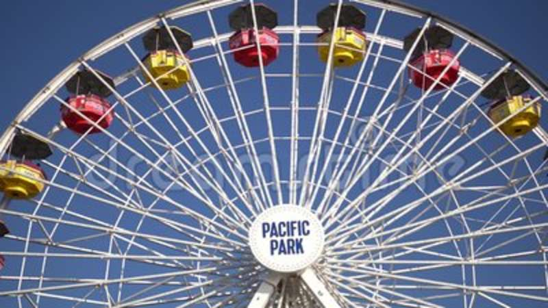 Silhouette Ferris Wheel Santa Monica Pier Sky Nature California Los Angeles  Travel Destination Weather Orange Tourism
