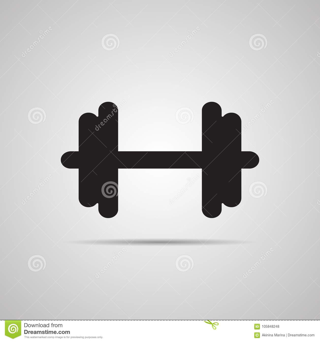 Silhouette Flat Icon Simple Vector Design With Shadow Stock Vector