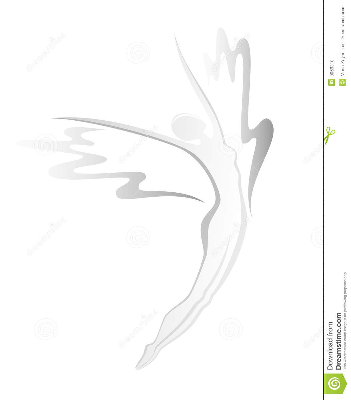 Silhouette Of Flying Woman Stock Photo - Image: 9069310