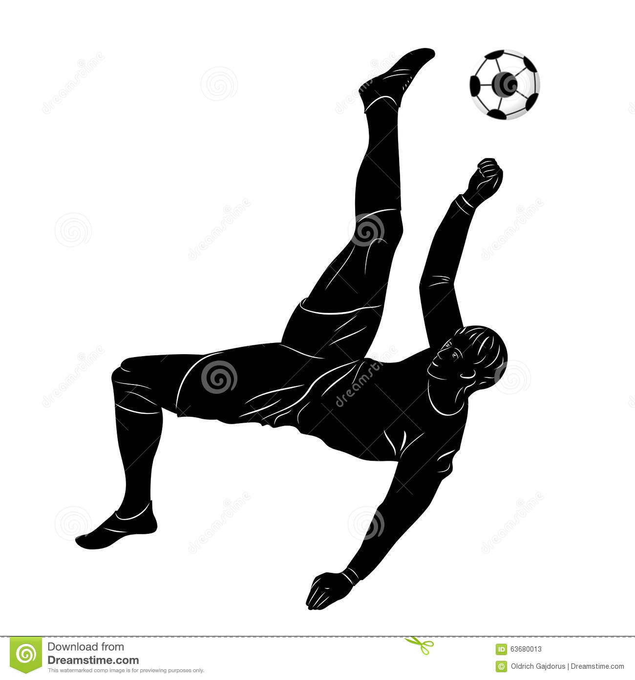 Silhouette football player stock vector. Illustration of ...