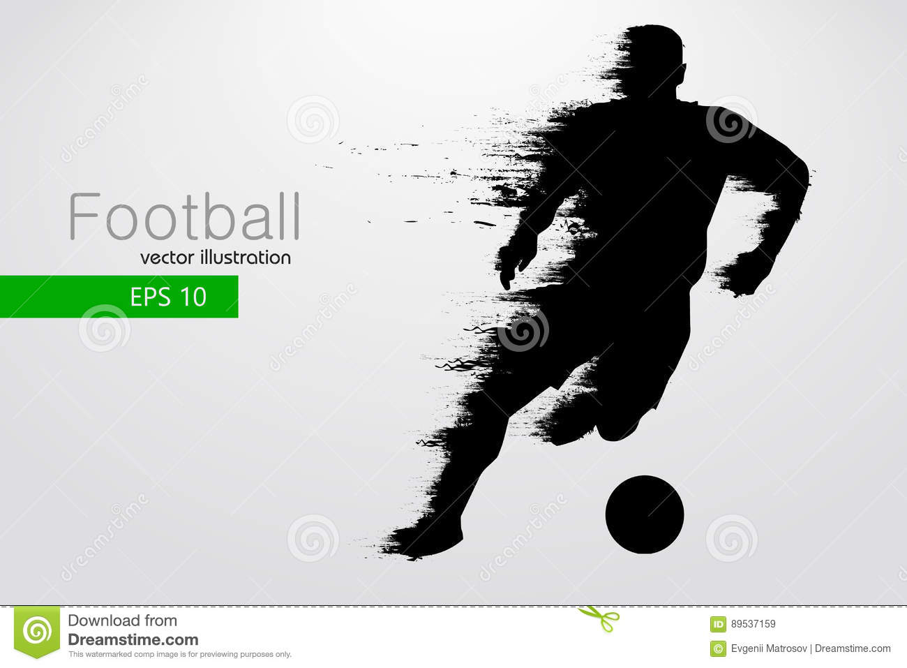 Silhouette Of A Football Player Vector Illustration Stock Vector