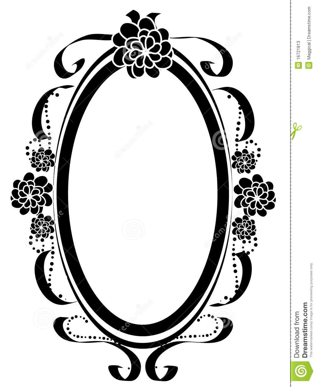 Silhouette Of A Frame Stock Vector Illustration Of Pretty
