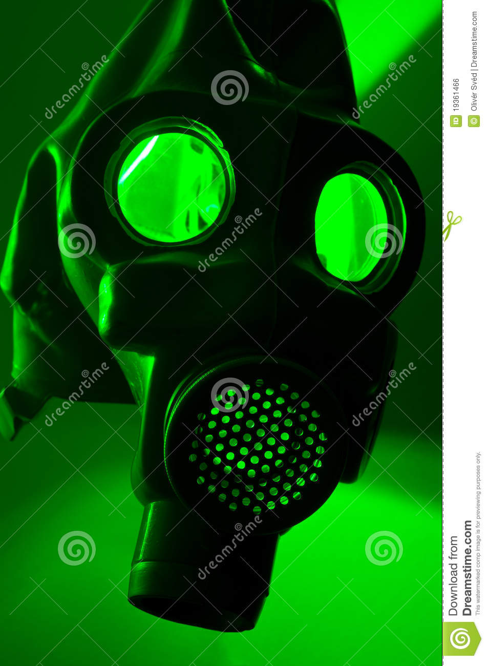 Royalty Free Stock Image  Silhouette of a gas maskGas Mask Silhouette Vector