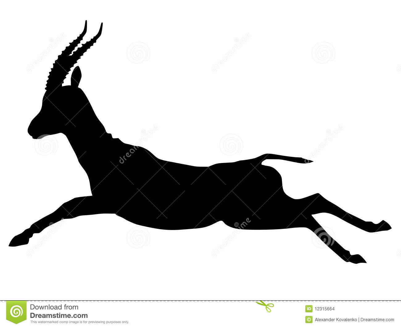 Silhouette Of Gazelle Stock Images - Image: 12315664