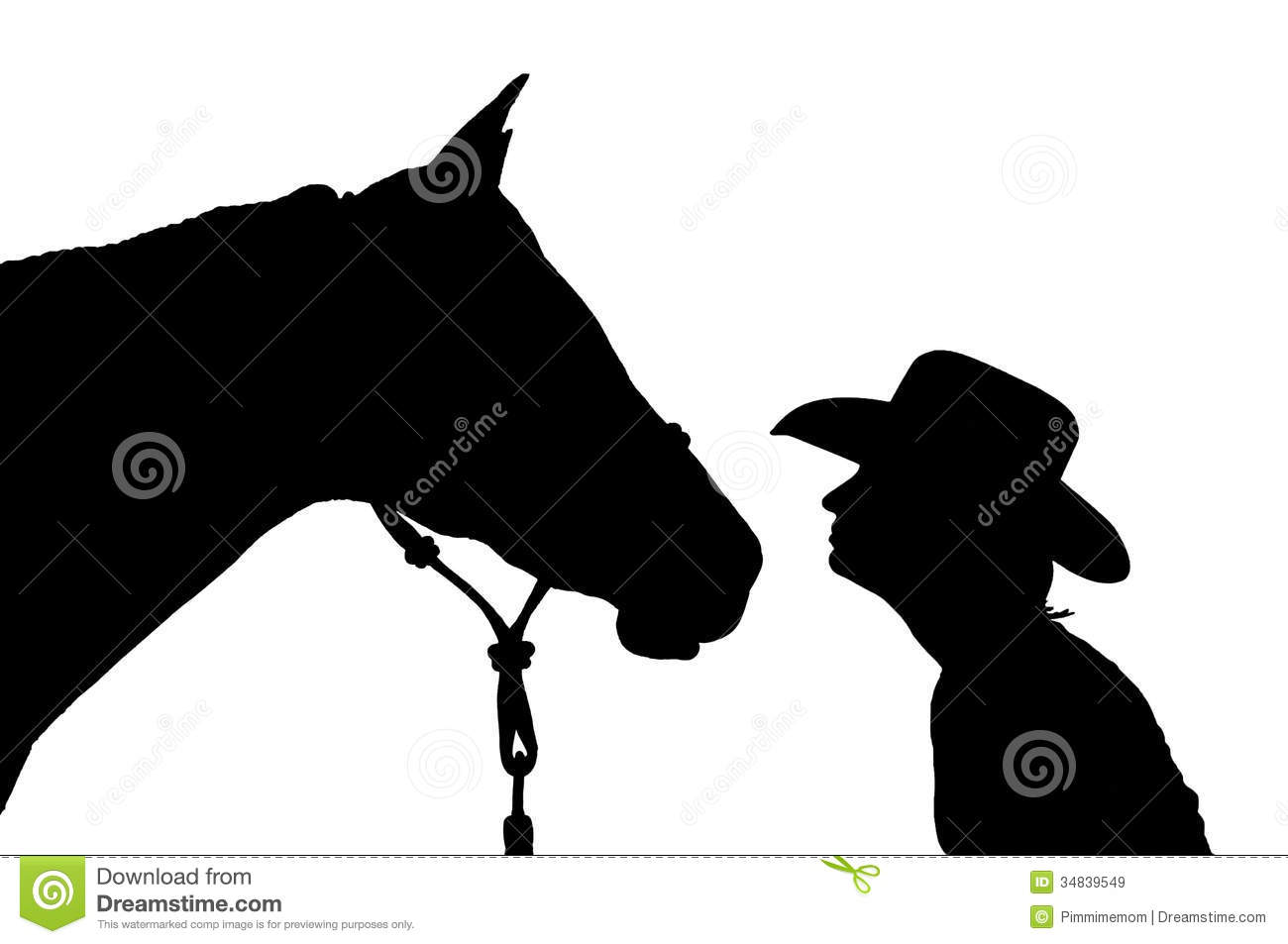 ... Cowboy Hat With Her Horse Royalty Free Stock Images - Image: 34839549