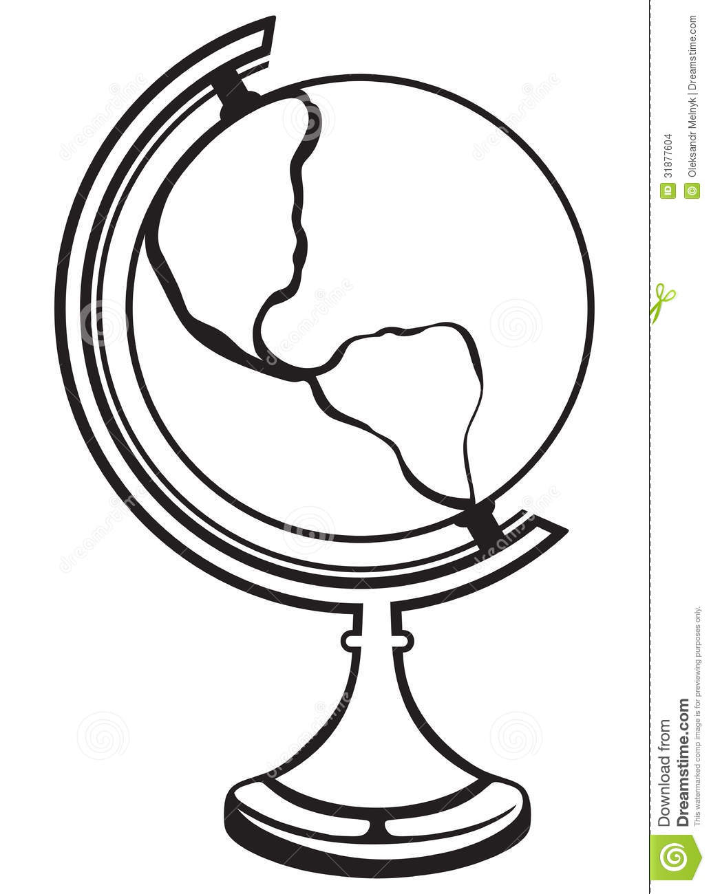 silhouette globe stock vector image of isolated globe