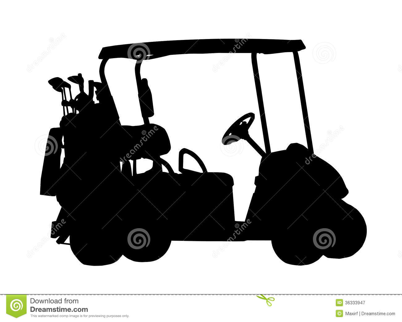silhouette of golf cart stock vector image of figure 36333947. Black Bedroom Furniture Sets. Home Design Ideas