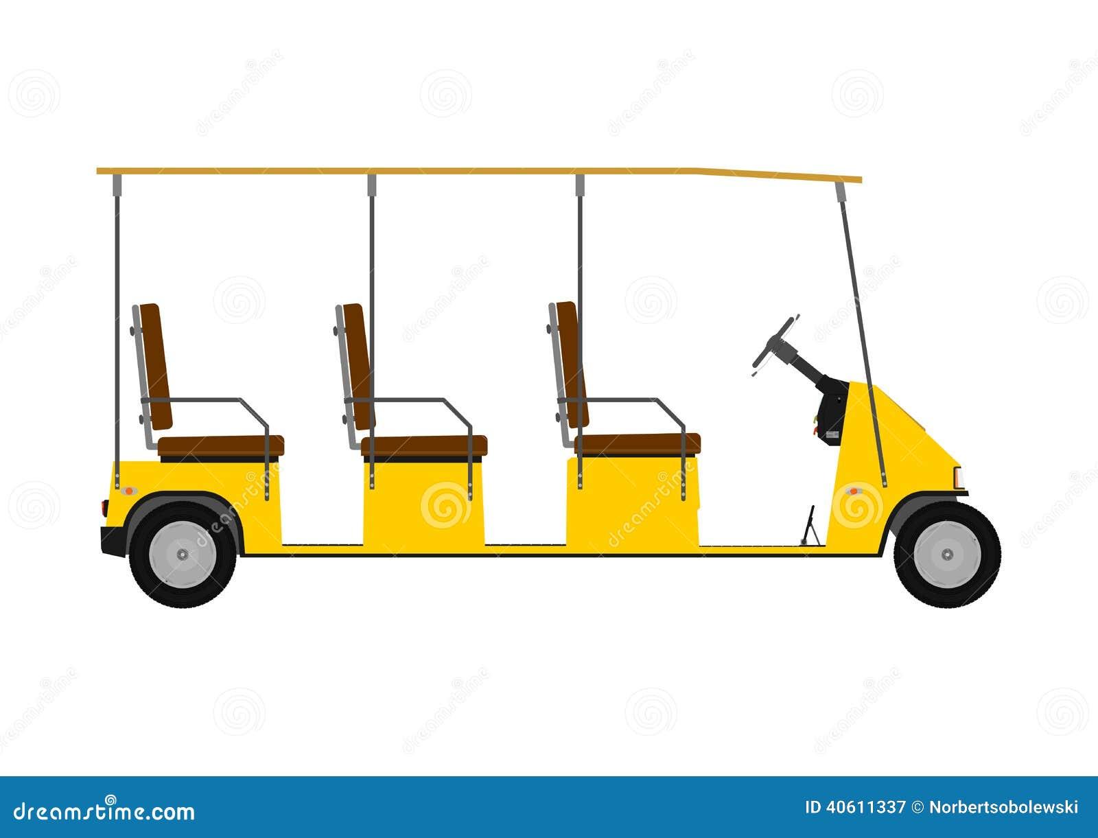Silhouette Of Golf Cart Stock Vector Illustration Of Motor 40611337