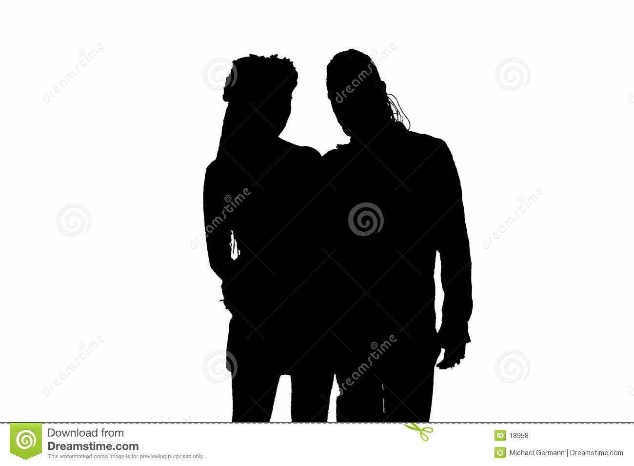 Silhouette of Gothic Couple