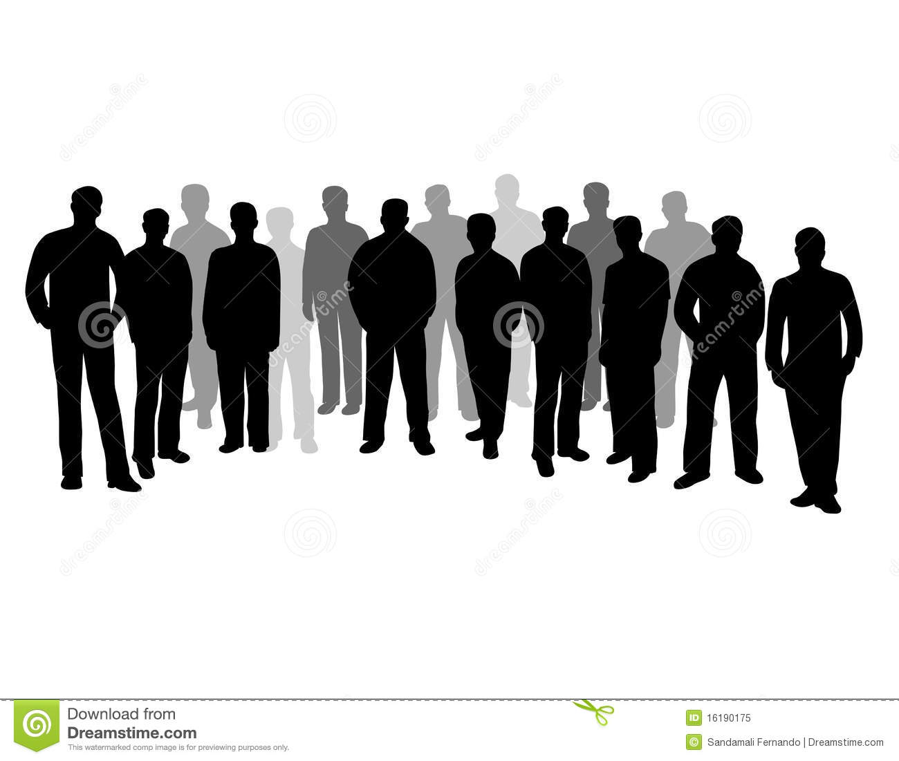 Black Silhouettes Of Group Of People Royalty Free Stock ...