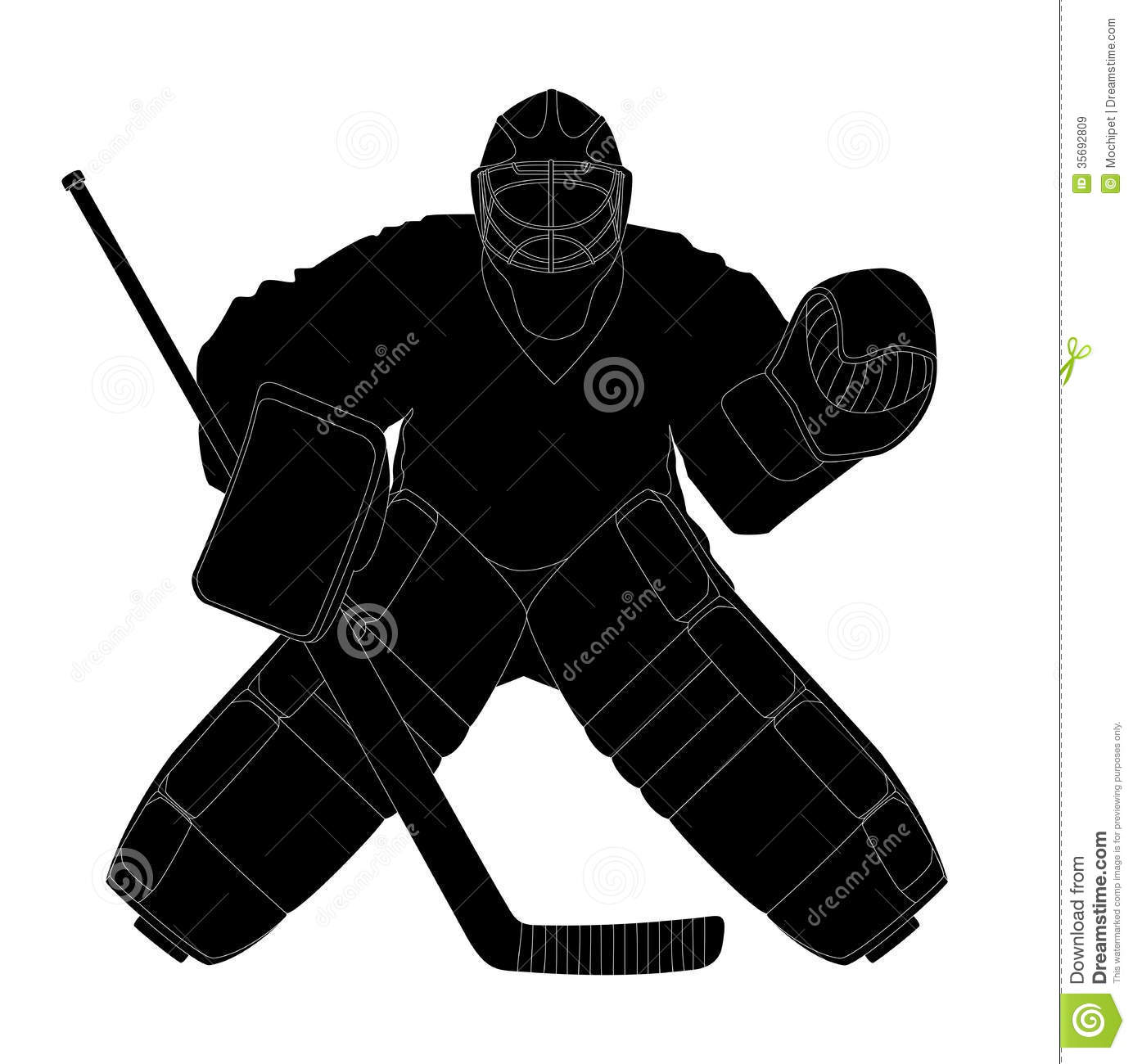 Silhouette Hockey Goalie Stock Vector Illustration Of Activity