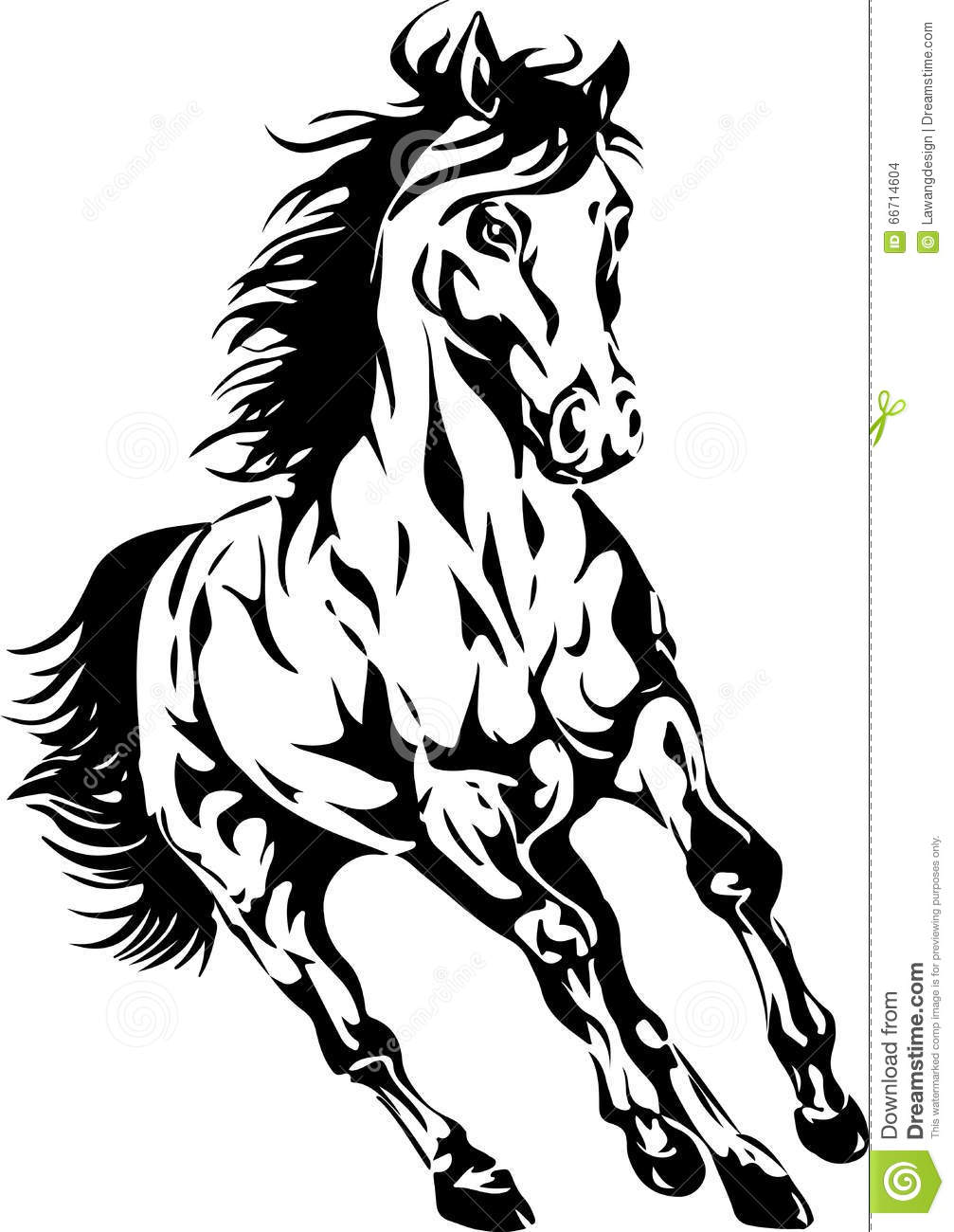 Horse silhouette metallic color on a golden background for Cowboy silhouette tattoo