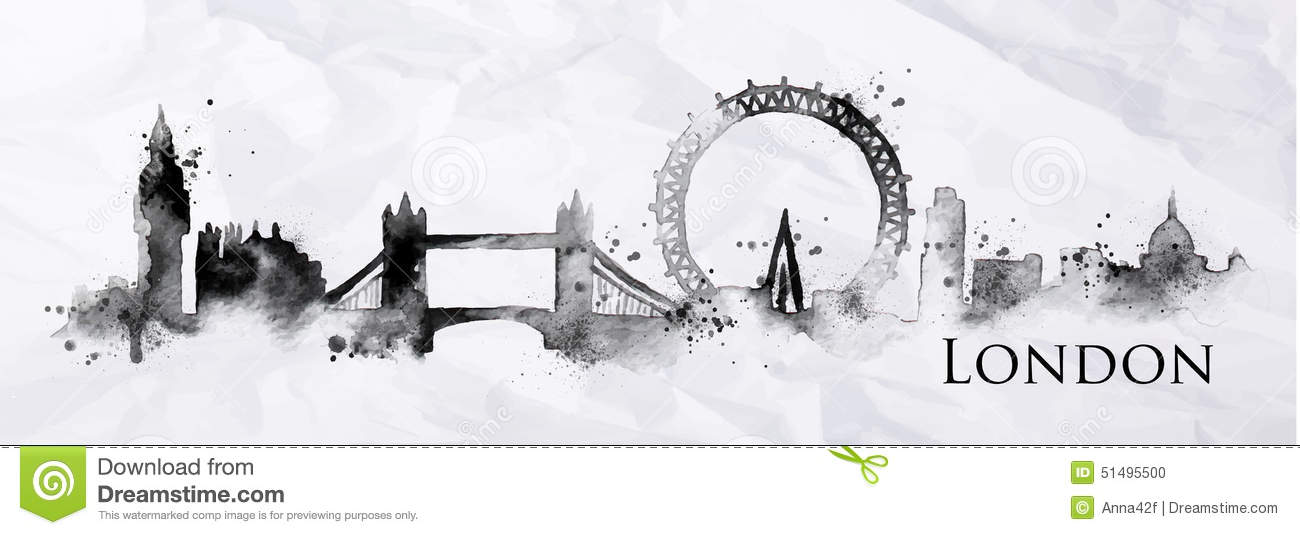 Silhouette Ink London Stock Vector Image 51495500