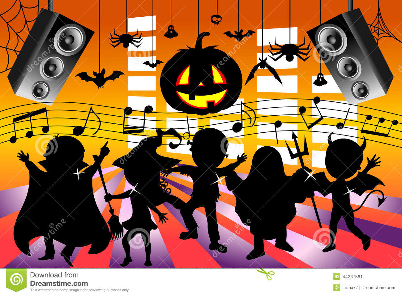 coloring pages halloween pumpkin archives printable coloring 702 silhouette kids dancing halloween party featuring children
