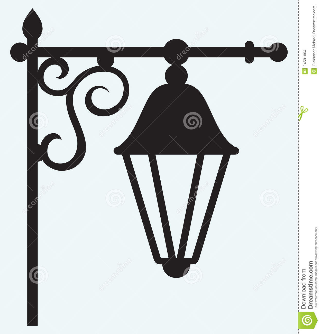 Silhouette Lamp Of Wrought Metal Stock Images - Image: 34581064