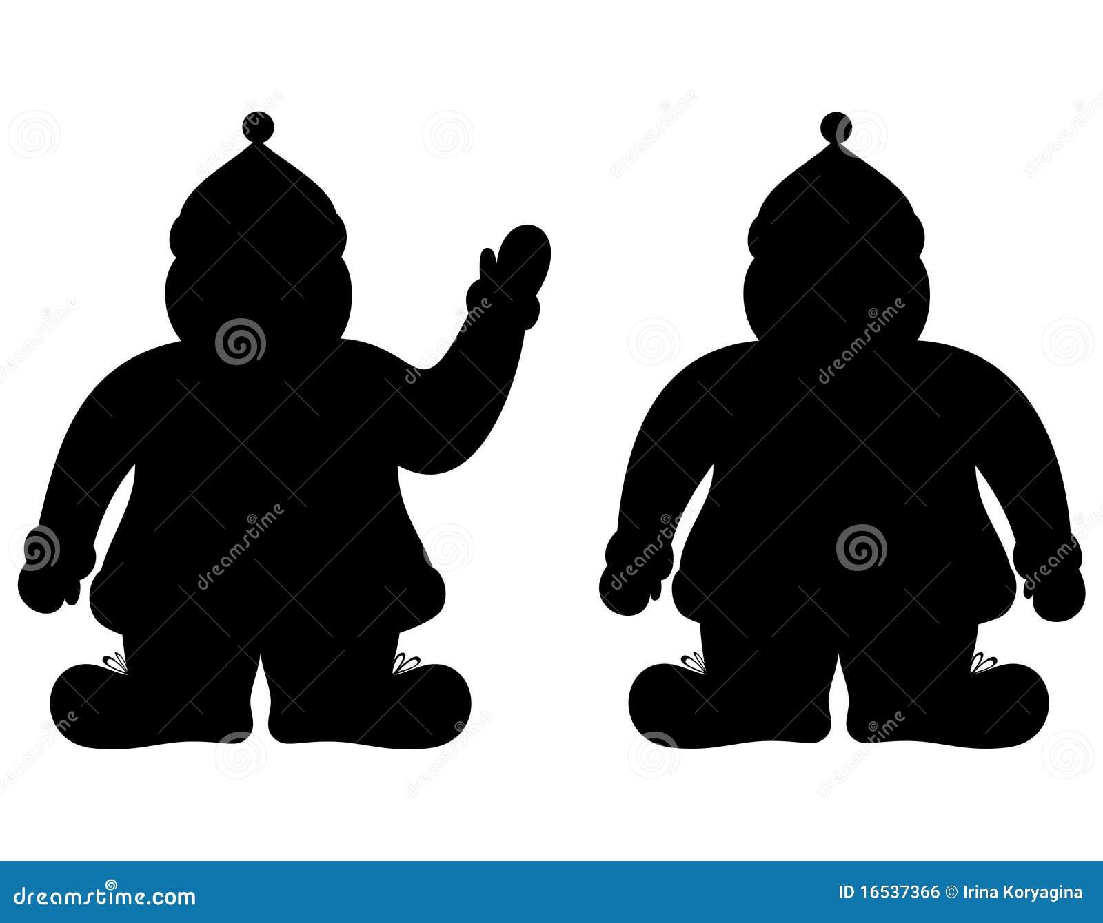 silhouette le p re no l image libre de droits image 16537366. Black Bedroom Furniture Sets. Home Design Ideas