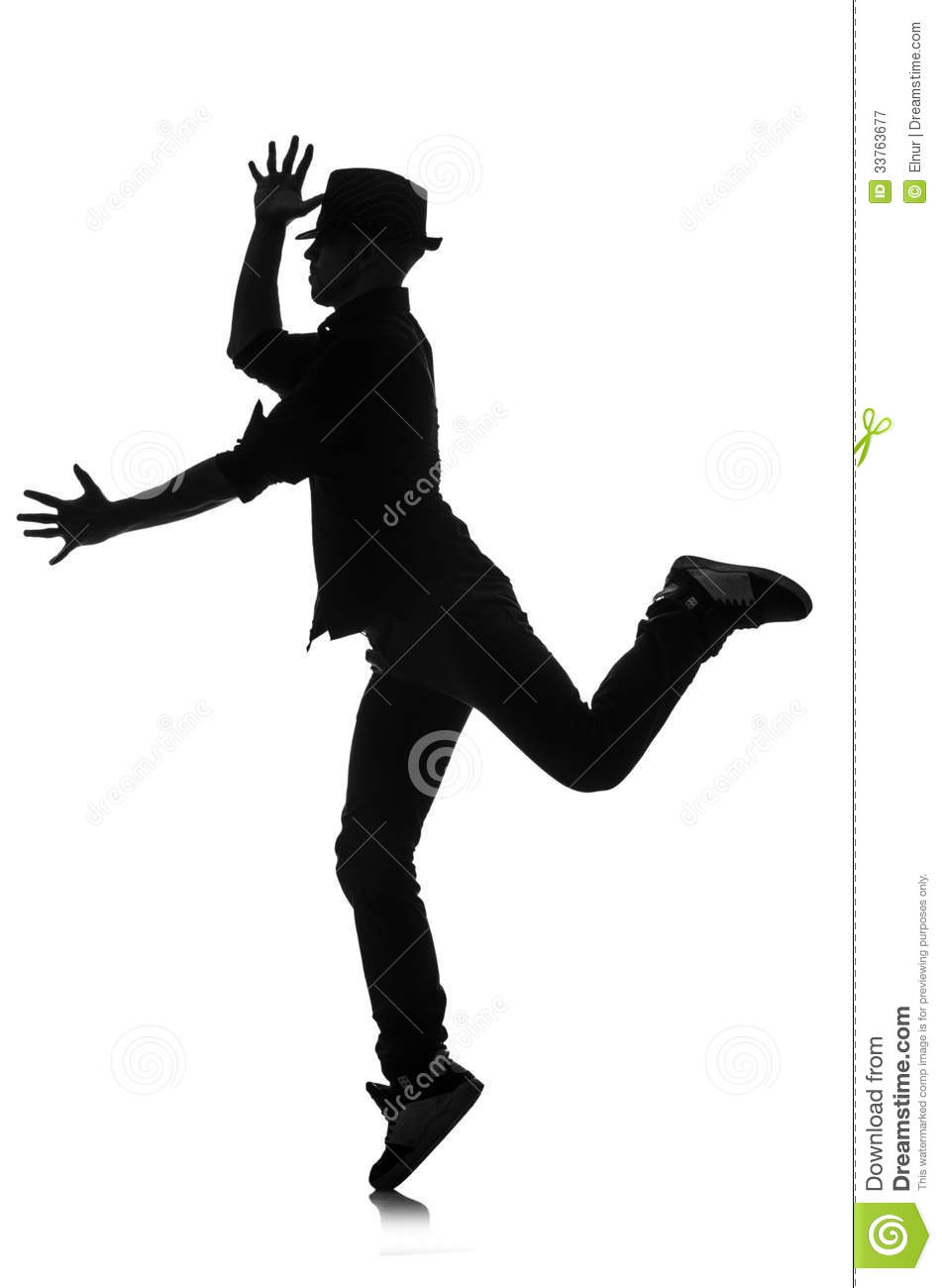 Silhouette Of Male Dancer Royalty Free Stock Photography ...