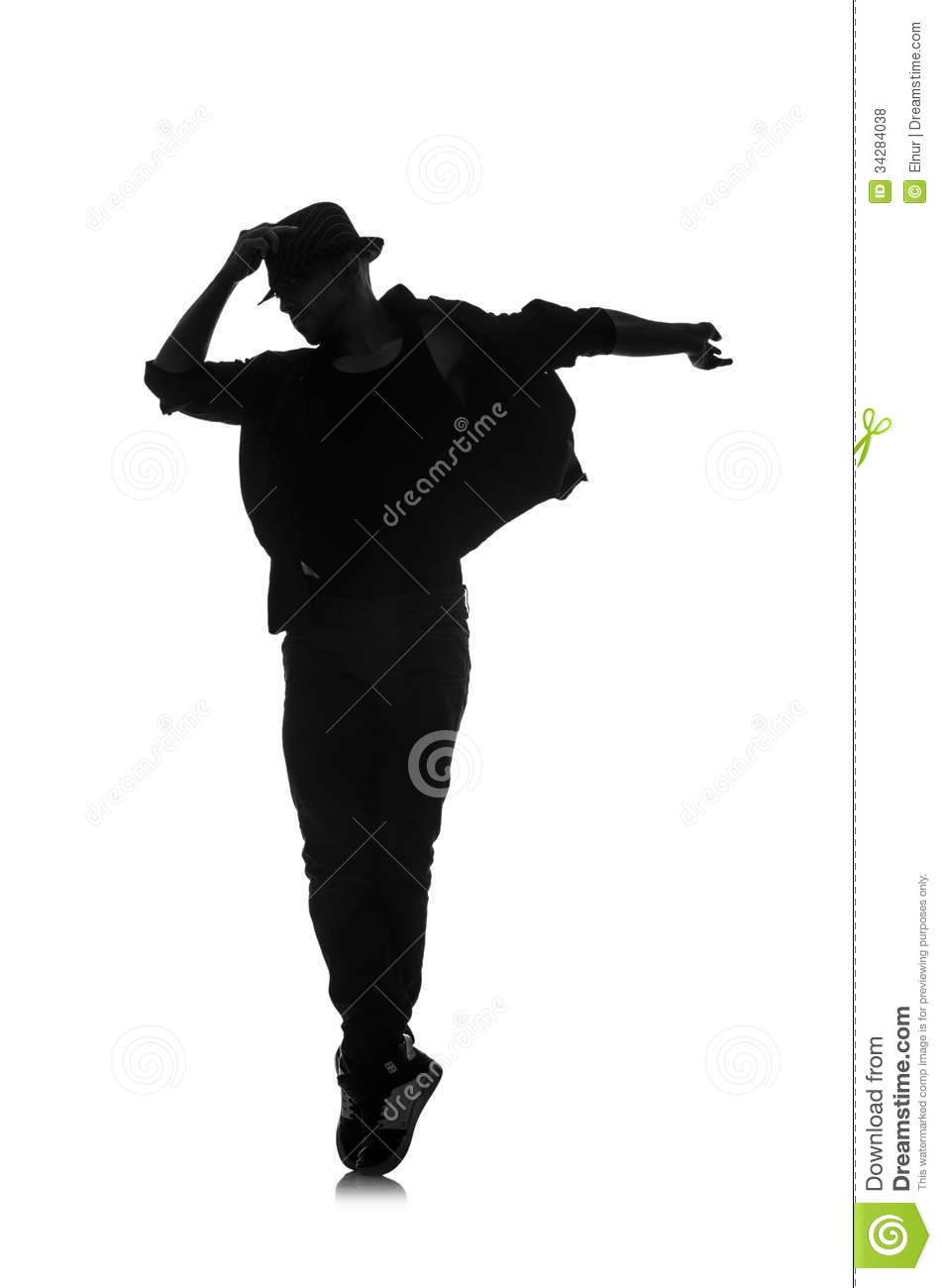 Silhouette Of Male Dancer Royalty Free Stock Photos ...
