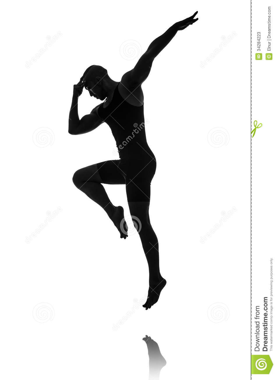 Silhouette Of Male Dancer Stock Photos - Image: 34284223