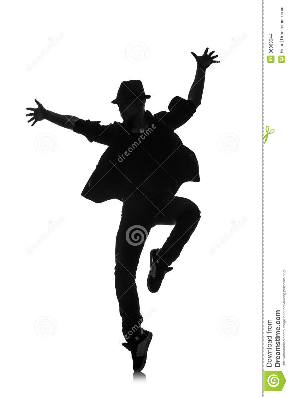 Silhouette Of Male Dancer Stock Images - Image: 36963044