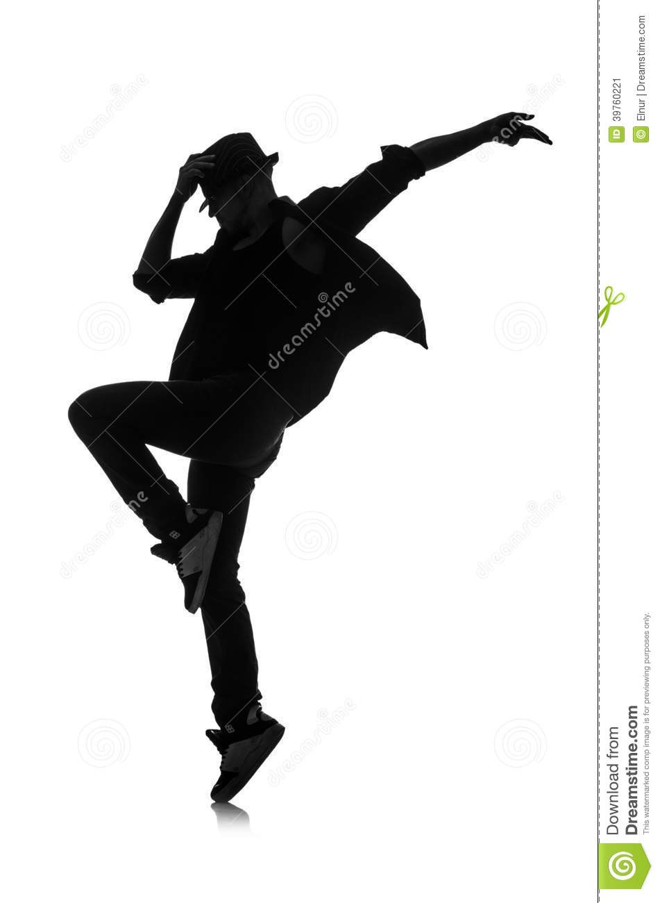 Silhouette of male dancer stock image. Image of design ...