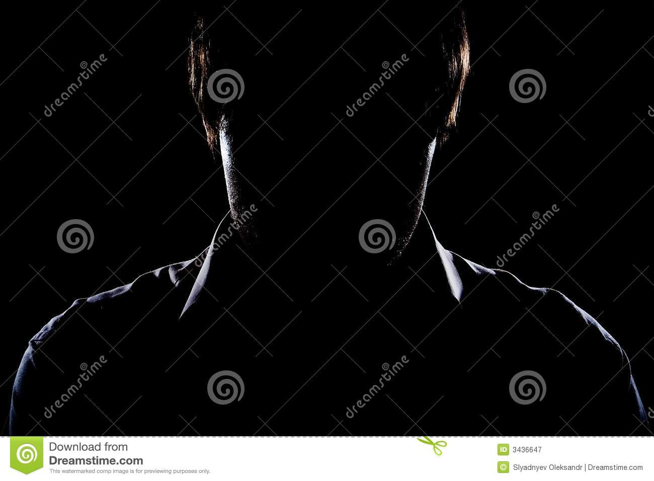 Silhouette of the man