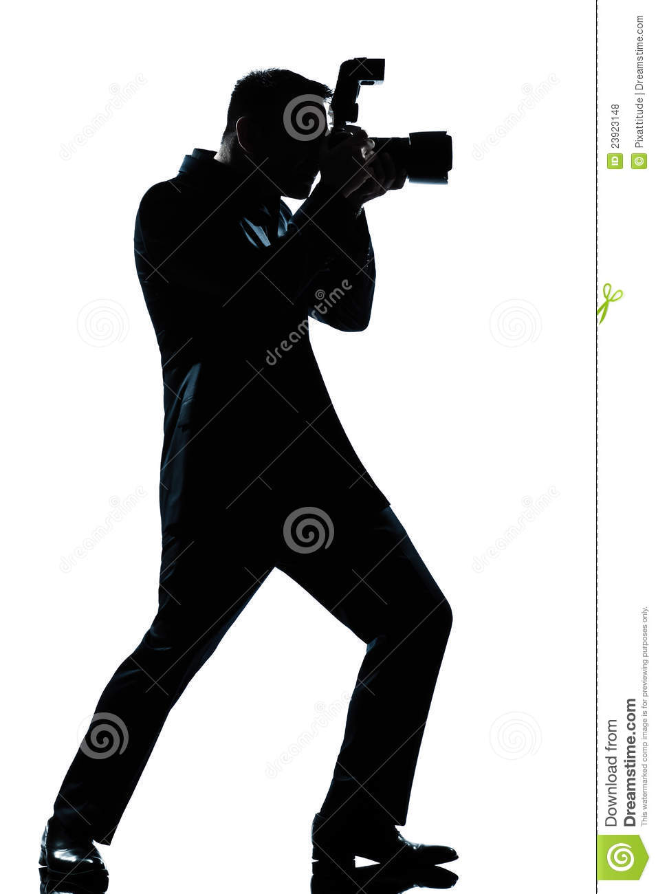 Silhouette Man Full Length Photographer Royalty Free Stock ...