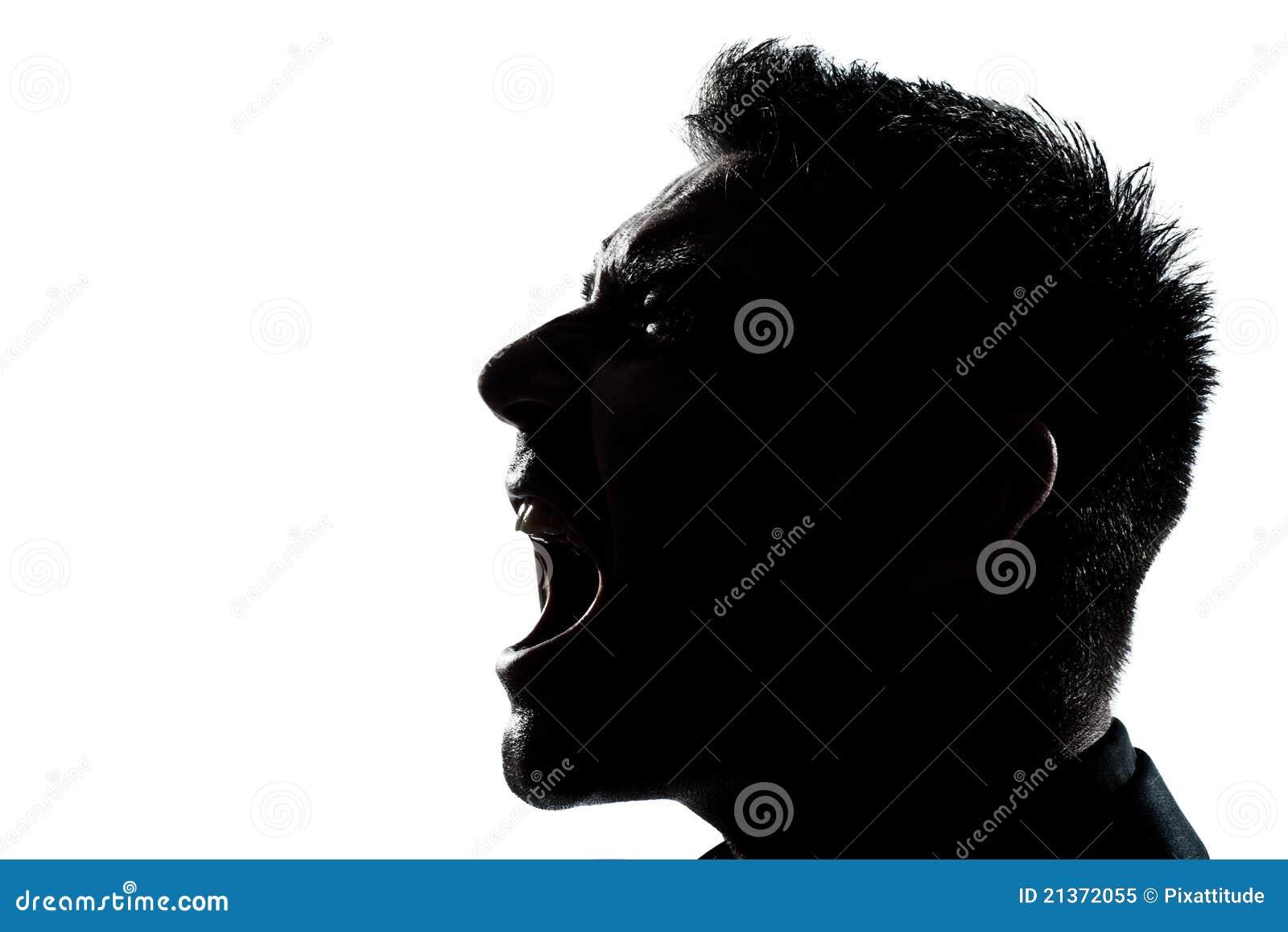 Vampire Profile Silhouette Silhouette man portrait
