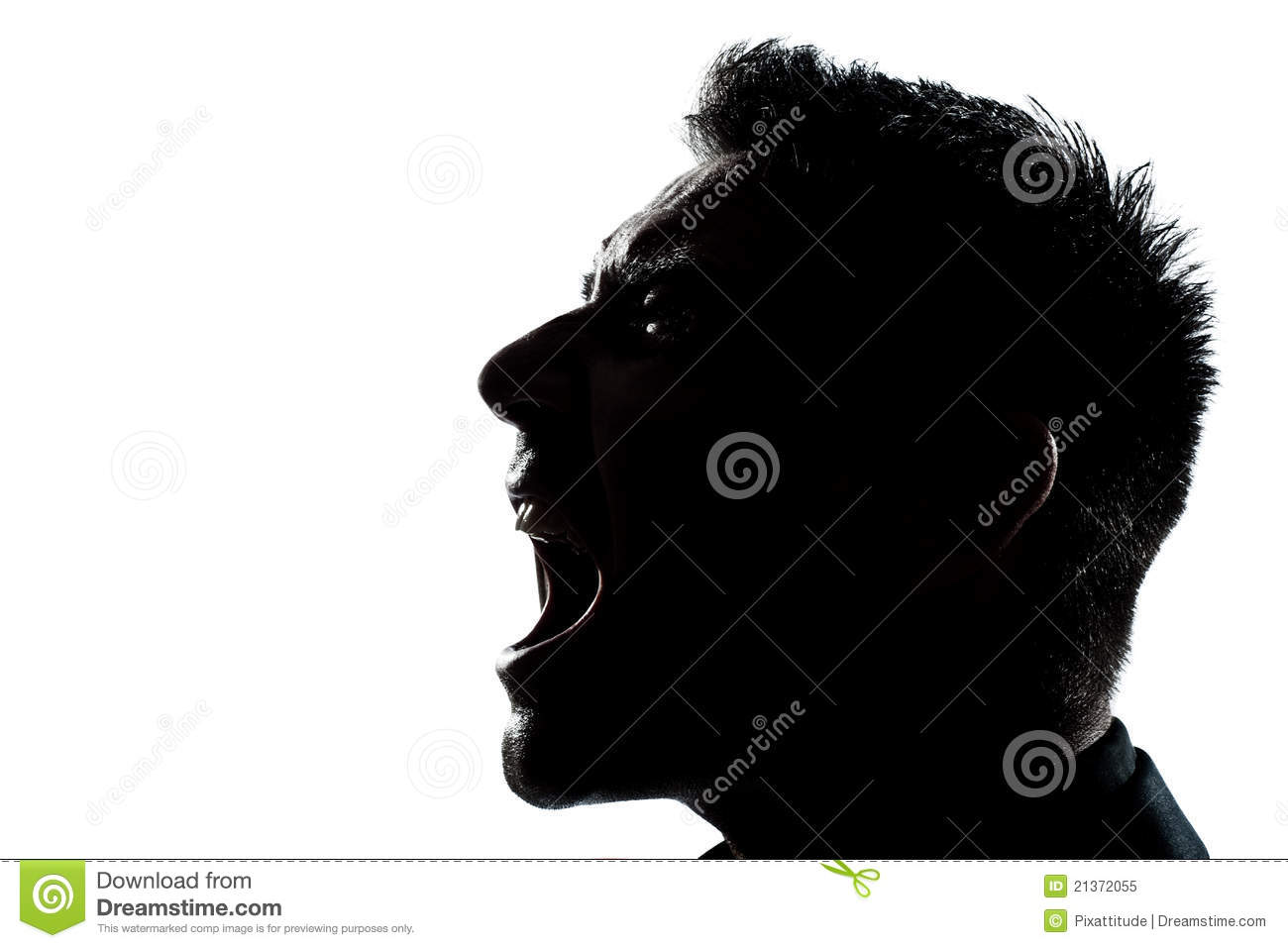Man Screaming Silhouette - White Stock Footage Video 535273 ...