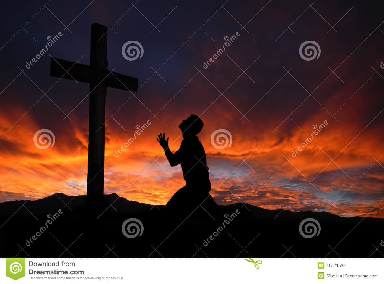 man kneeling cross jesus christ stock photos images u0026 pictures