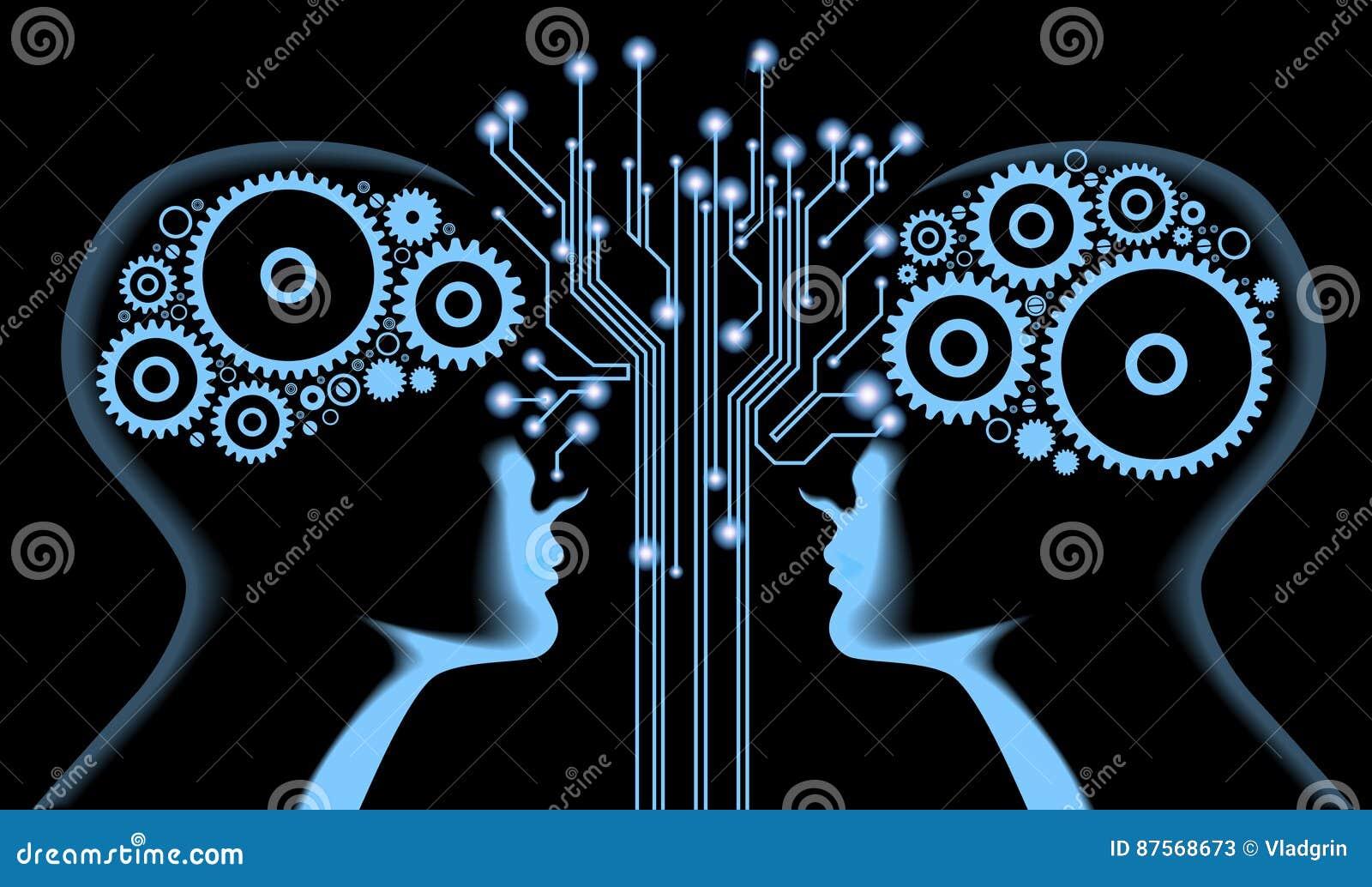 Electrical Circuit Brain Man Concept Vector Illustration