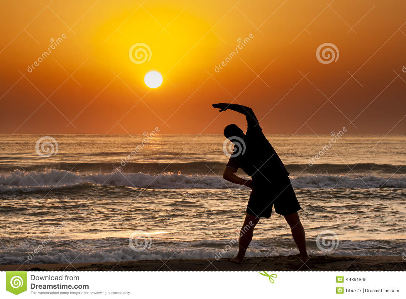 Sunrise beach fitness