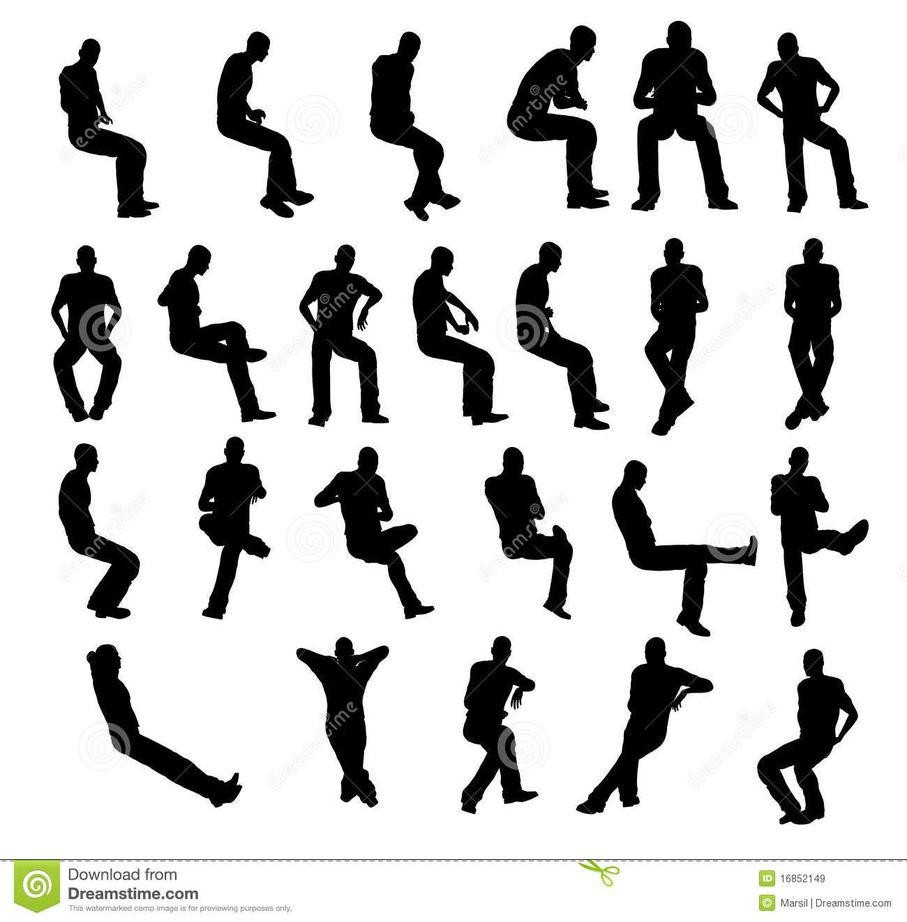 silhouette-man-sitting-16852149.jpg (800×758) | Silhouettes and ...