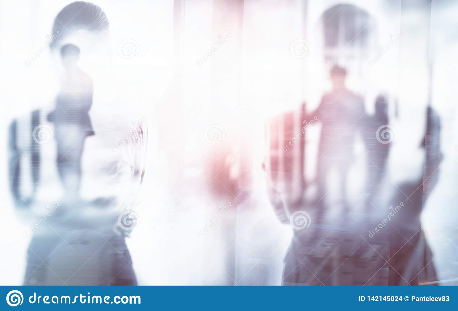 Silhouette of a man and a woman business abstract