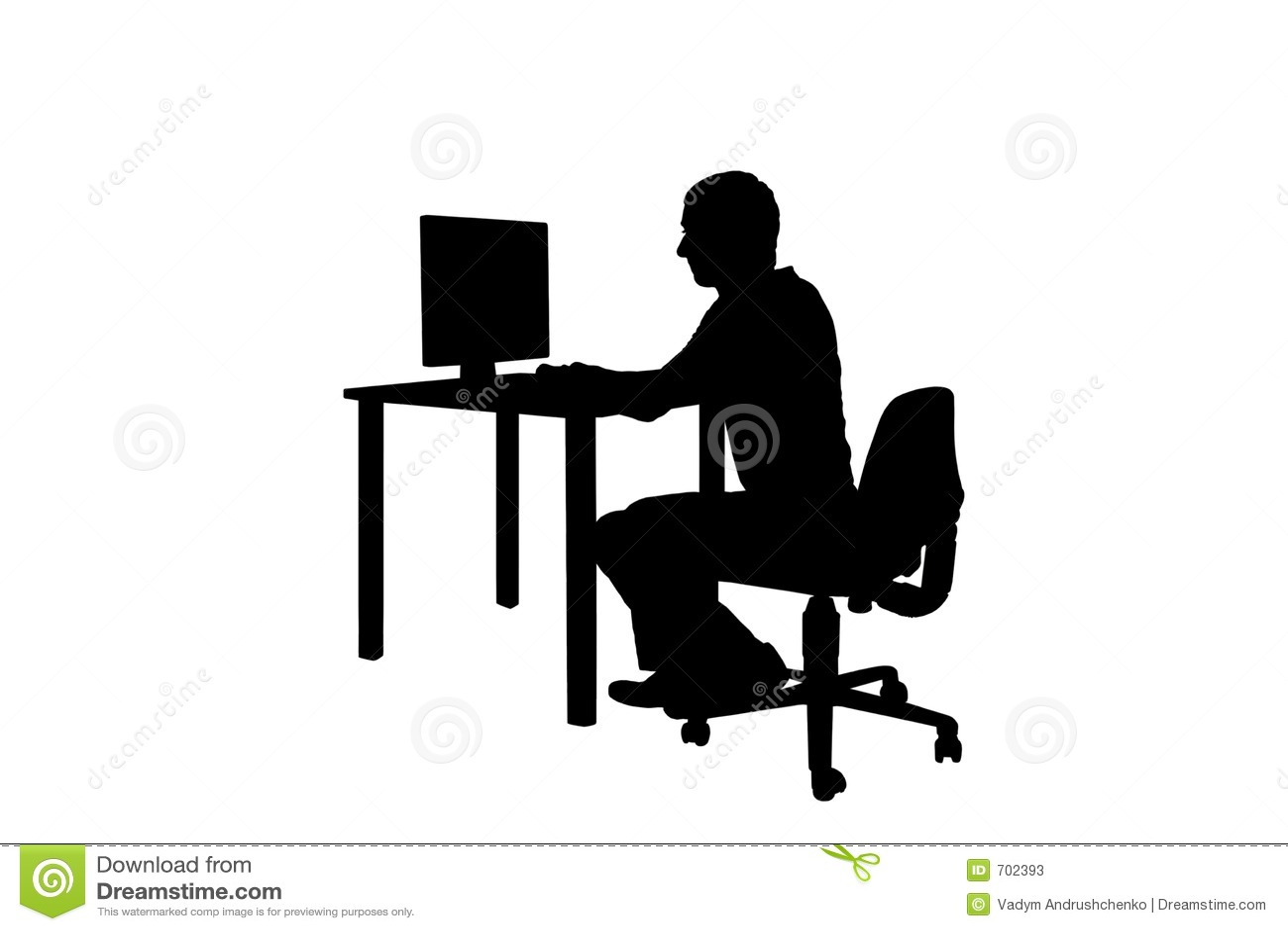 Silhouette Man At Work Stock Illustration Illustration Of