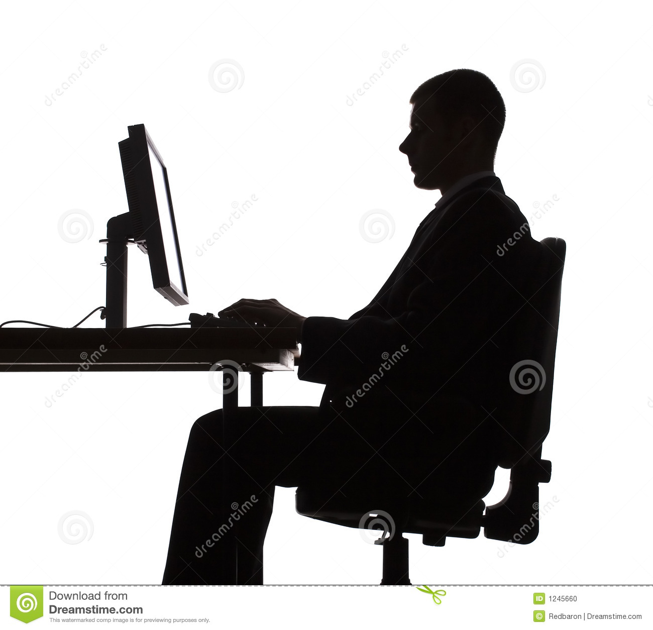 Silhouette Of Man Working Computer Stock Photo Image  : silhouette man working computer 1245660  from www.dreamstime.com size 1300 x 1254 jpeg 154kB