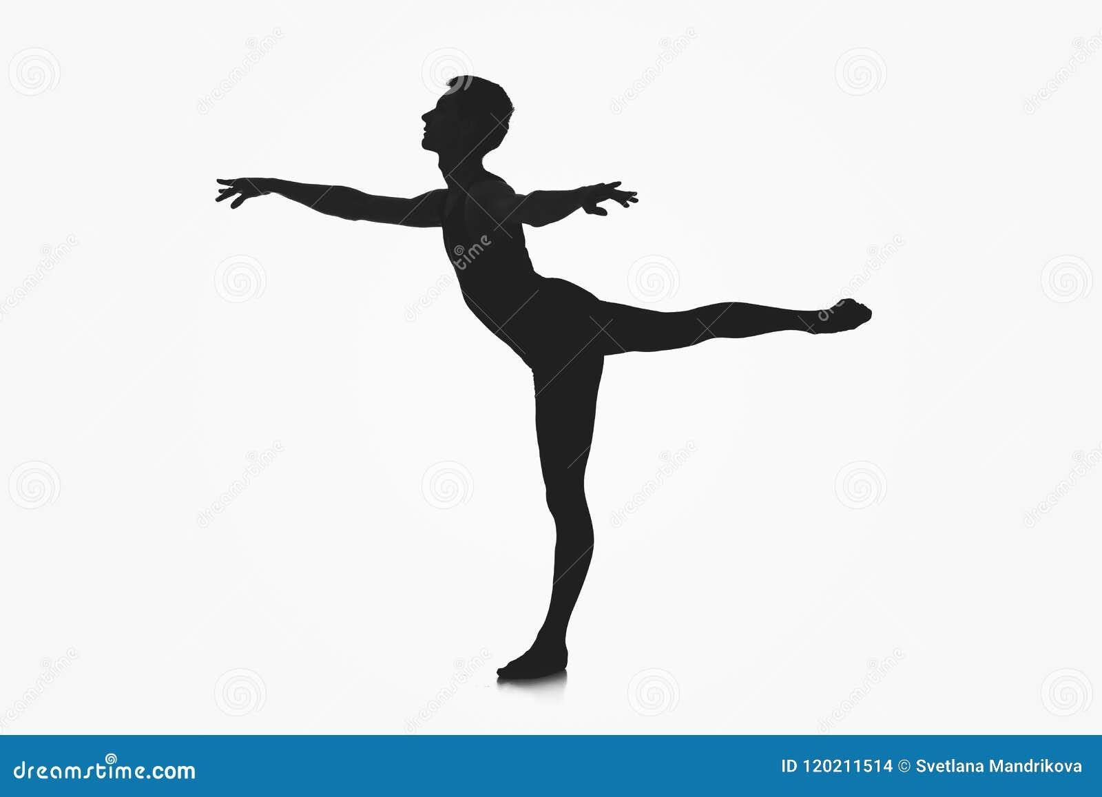 Silhouette masculine de danseur classique