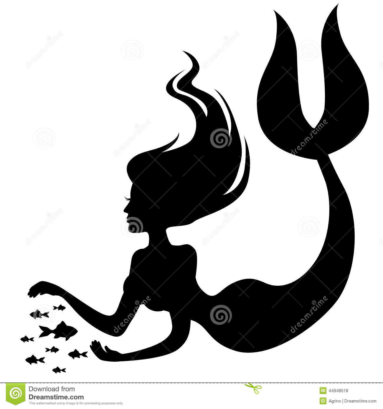Gallery For gt Mermaid Silhouette Clip Art